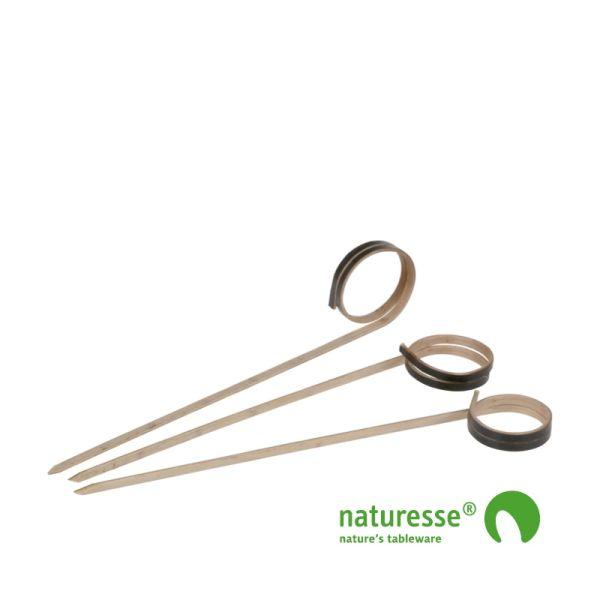 Pindemadspinde Sort, Bambus (8cm) - 250 stk pk