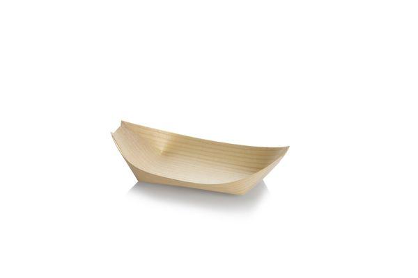 Træbåd, Tallerken (17cm) - 100 stk pk *