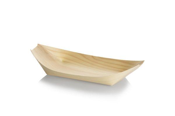 Træbåd, Tallerken (24,5cm) - 100 stk pk *