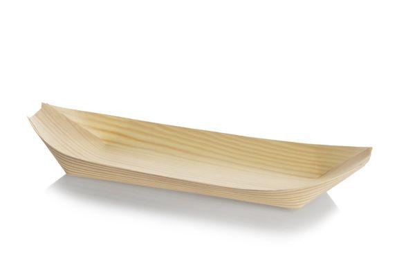 Træbåd, Tallerken (30,5cm) - 50 stk pk *