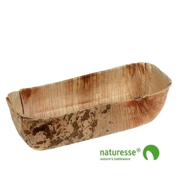 Skål i palmeblad (18x8,5x4,5cm) - 25 stk pk*