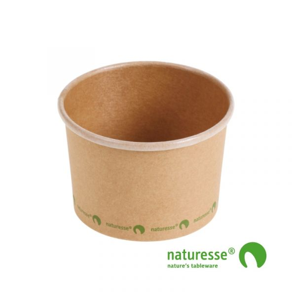 Suppebæger, Karton/CPLA (240ml/Ø9xH6cm) - 25 stk pk *