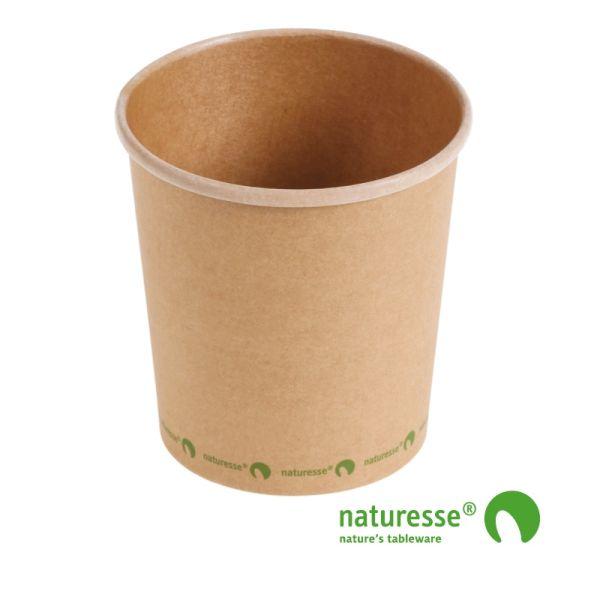 Suppebæger, Karton/CPLA (480ml/Ø9,8xH10,2cm) - 25 stk pk *