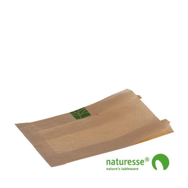 Brødpose i PaperWise, 240x140x2x30mm - 500 stk krt