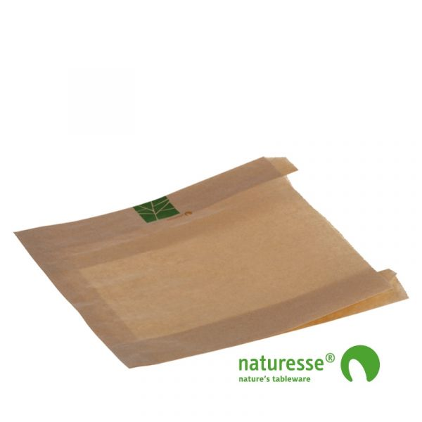 Brødpose i PaperWise, 230x210x2x35mm - 500 stk krt