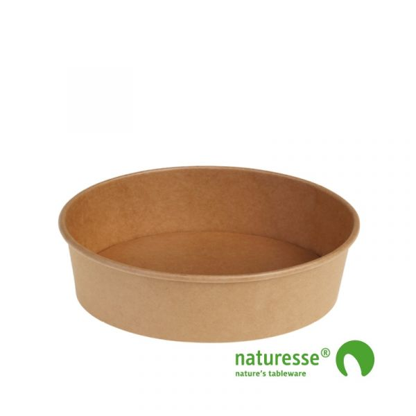 Salatbæger, Karton/PLA (Ø18,5x4,9cm/840ml) - 45 stk pk