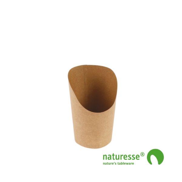 Wrap Bæger, Karton/PLA (Ø12x8,5x6cm/360ml) - 50 stk pk