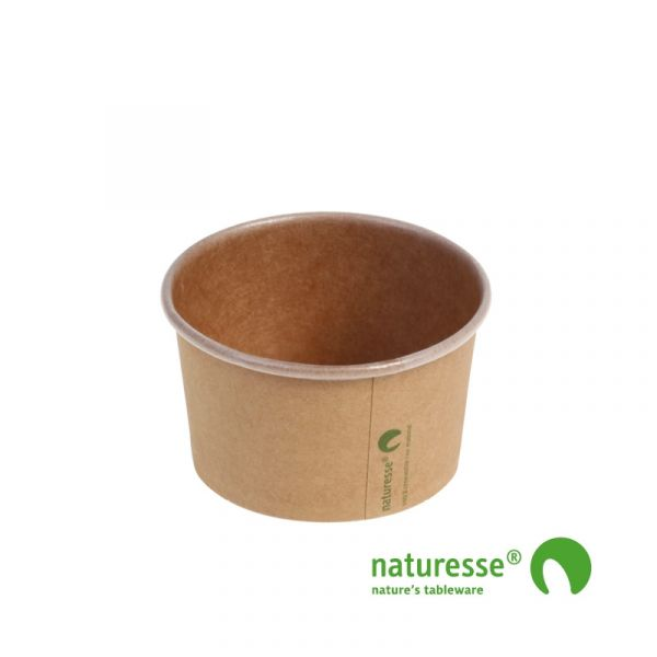 Isbæger, Karton/PLA Ø 8,5cm (150ml) - 50 stk pk *