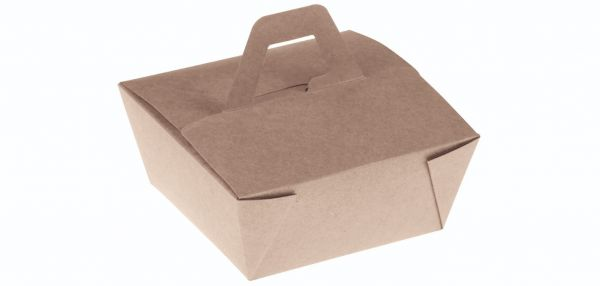 Bambuskarton Boks, M/Håndtag (15x15x6,5cm) - 50 stk pk