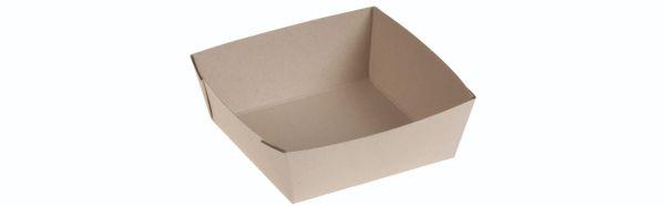 Bambuskarton Boks, PLA belægning (11,5x11,5x4cm) - 50 stk pk