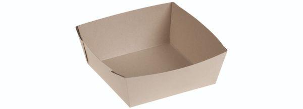 Bambuskarton Take Away Boks (15,5x15,5x5cm) - 50 stk pk