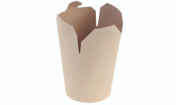 Bambuskarton Chinabox Take Away (450ml/Ø7x10cm) - 50 stk pk