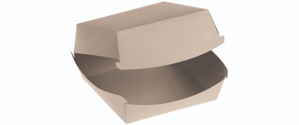 Bambuskarton Burgerboks, m/Låg (12x11x8cm) - 50 stk pk