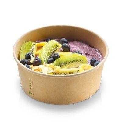 Karton/PLA / natur, Salat bæger, 16oz / 480ml Ø120x60mm - 50 stk pk*