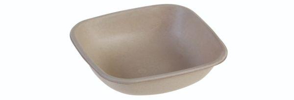 SR-fiber / natur, Bowl 250ml, 120x120x30mm - 100 stk pk*