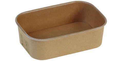 Karton/PLA / natur, NY Transportbakke, 173x120x51mm, 650ml - 50 stk. pk