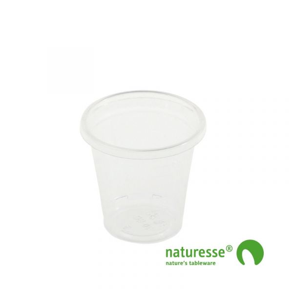 Snapseglas i PLA (30ml) - 100 stk pk *