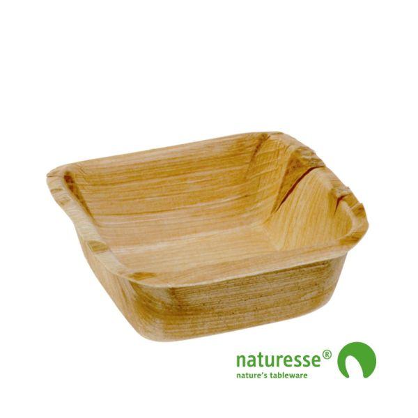Skål i palmeblad 'Square' (7x7cm) - 25 stk pk*
