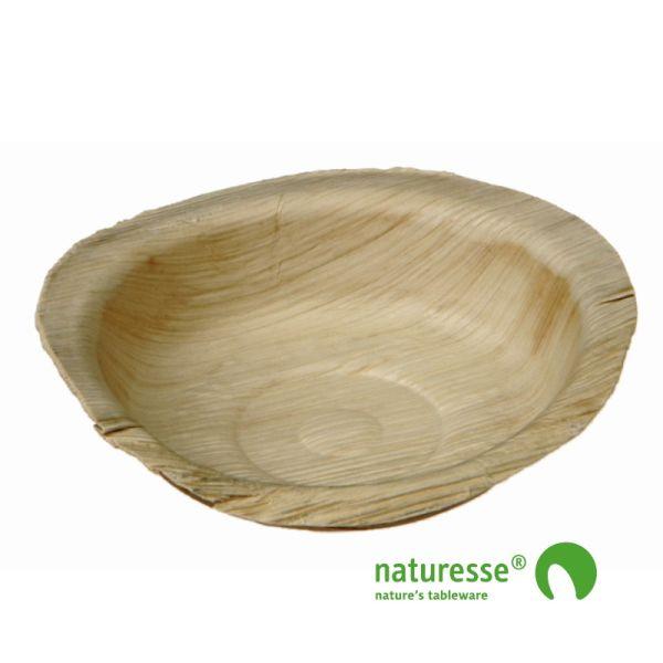 Skål i palmeblad (Ø12cm) - 25 stk pk*