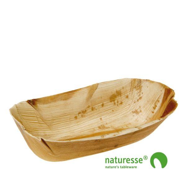 Skål i palmeblad (22x10x6cm) - 20 stk pk*