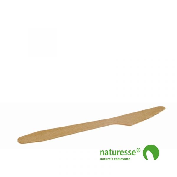 Kniv, Træ (16,5cm) - 100 stk pk *