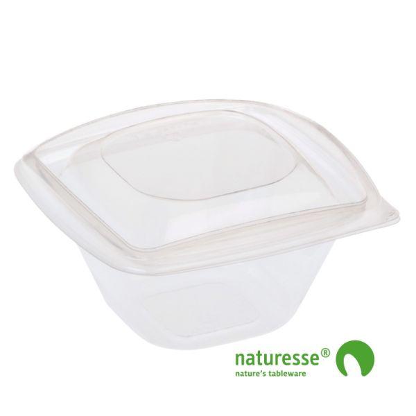 PLA Salatbæger m/Låg (12,6x12,6x7,2cm/360ml) - 40 stk pk