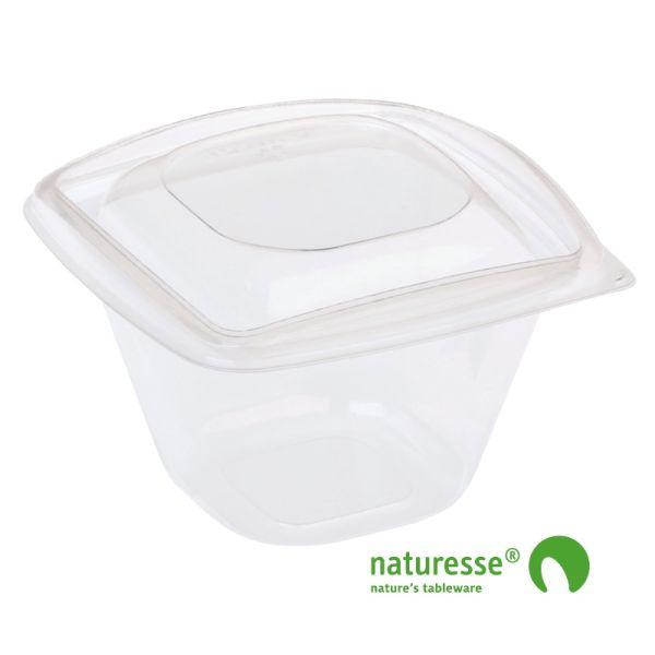 PLA Salatbæger m/Låg (12,6x12,6x8,7cm/480ml) - 40 stk pk
