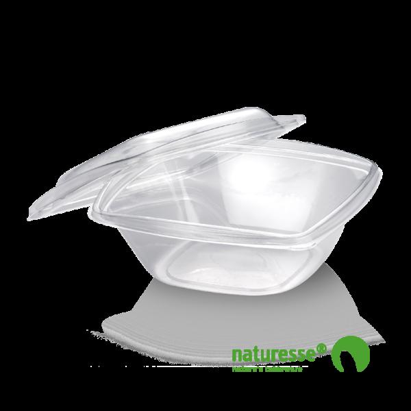 PLA Salatbæger m/Låg (19,2x19,2x6,5cm/720ml) - 50 stk pk